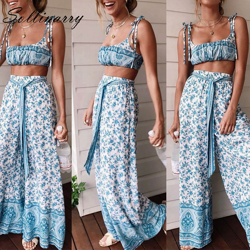 Suits & Sets Sollinarry Yellow Plaid Sexy Summer Women Crop Tops And Skirt Suit Casual Bowtops Ruffle Mini Dress Set Female Holiday Suit Boho