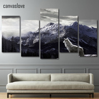 Framed Printed Snow Mountain Plateau Wolf Painting Children S Room Decor Print Poster Picture Canvas Free