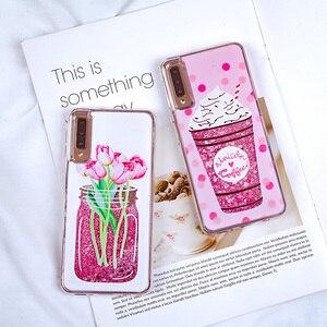 Image 3 - Liquid Quicksand Glitter Case for Samsung Galaxy A7 2018 S8 S9 Plus Note 9 Cover For A5 A7 J5 J7 2016 2017 S7 Edge A8 Plus 2018