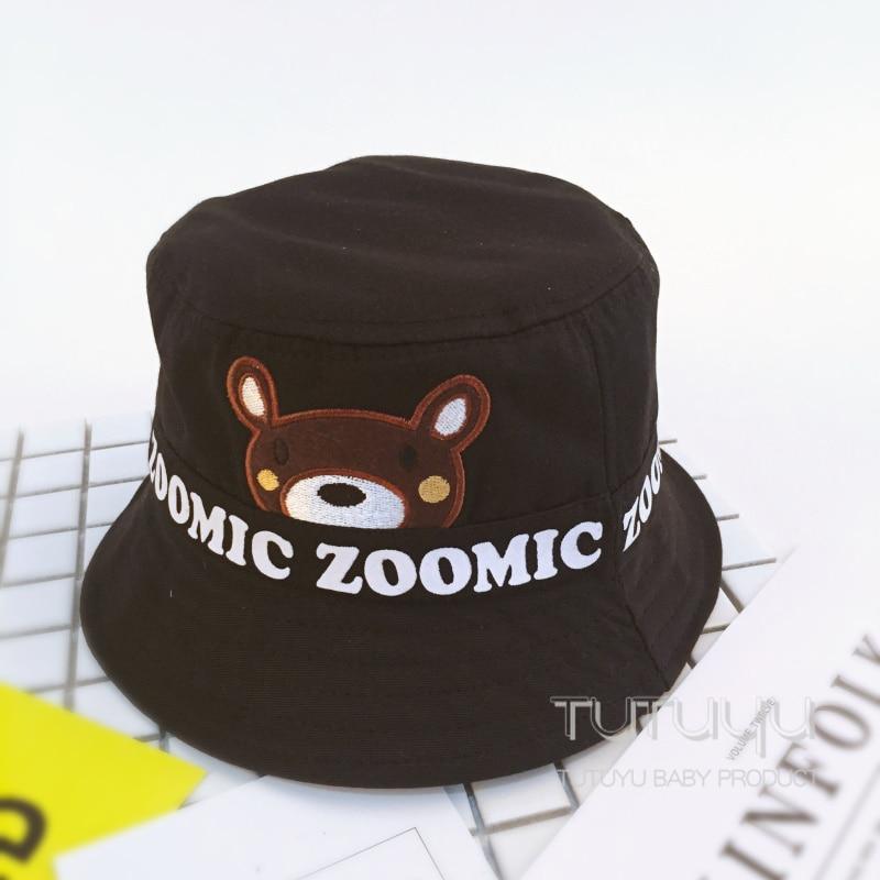 16013d6e265 Children Boys Sun Hats Spring Summer Caps Cotton Bucket Hat Dino Baby Kids  Boy Bear Cap New Fashion Free Drop Shipping 2 5Yrs-in Bucket Hats from  Apparel ...
