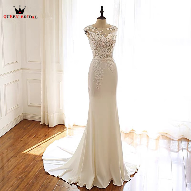 Sexy Mermaid Floor Length Lace Beading Wedding Dresses Bridal Gowns Vestido De Noiva Custom Made RP14