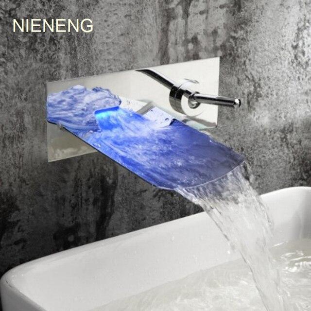 NIENENG led cascade vier l eau du robinet pour salle de bains robinet mural robinet robinets.jpg 640x640 Résultat Supérieur 14 Frais Robinet Mural Cascade Pic 2018 Kjs7