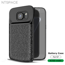 NTSPACE 4700mAh Ultra Slim Silicone Backup Power Bank Cover For Samsung Galaxy S7 Case External Battery Charger Cases