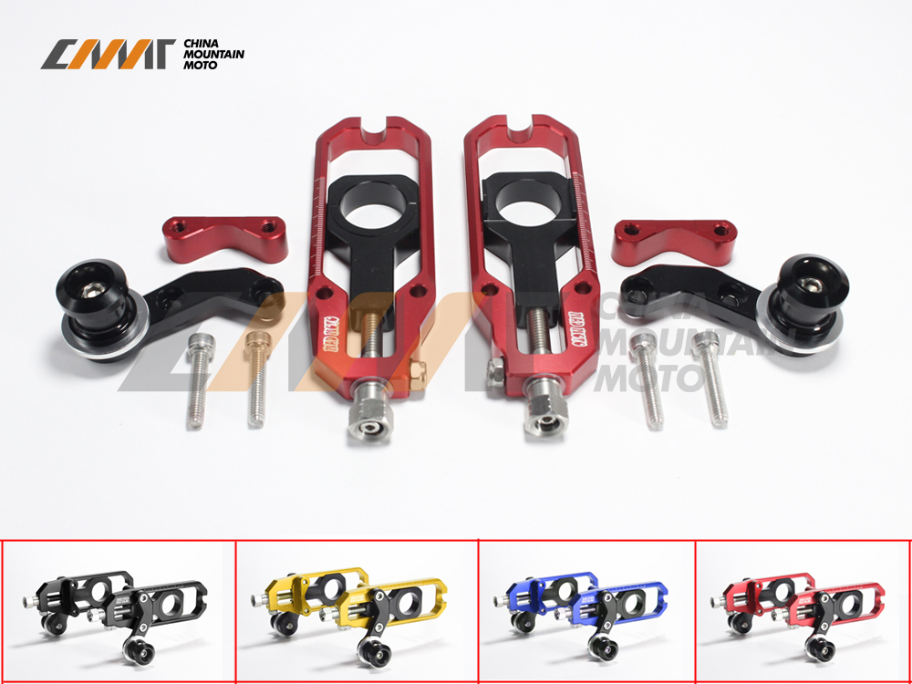 4 Color Motorcycle Chain Adjusting Case for YAMAHA YZF1000 R1 2007-2014 08 09 10 11 12 13 Chain Adjusting Aluminum tamiya 1 12 yamaha motorcycle model yzr m1