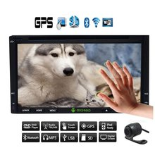 """Free Camera+Android 4.4 2 din Capacitive Touch Screen Car no-DVD CD Video Player GPS Navi 7"""" Car Stereo RDS Radio+BT+WiFi"""