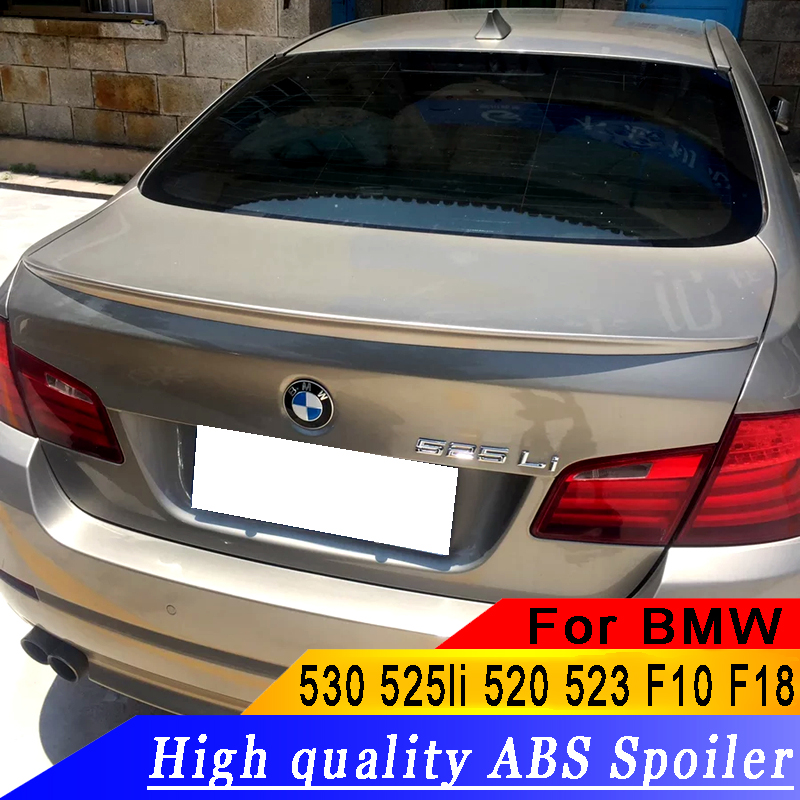 For BMW 530 525li 520 523 F10 F18 to up Universal high quality ABS material Primer or white or black DIY paint spoilerFor BMW 530 525li 520 523 F10 F18 to up Universal high quality ABS material Primer or white or black DIY paint spoiler