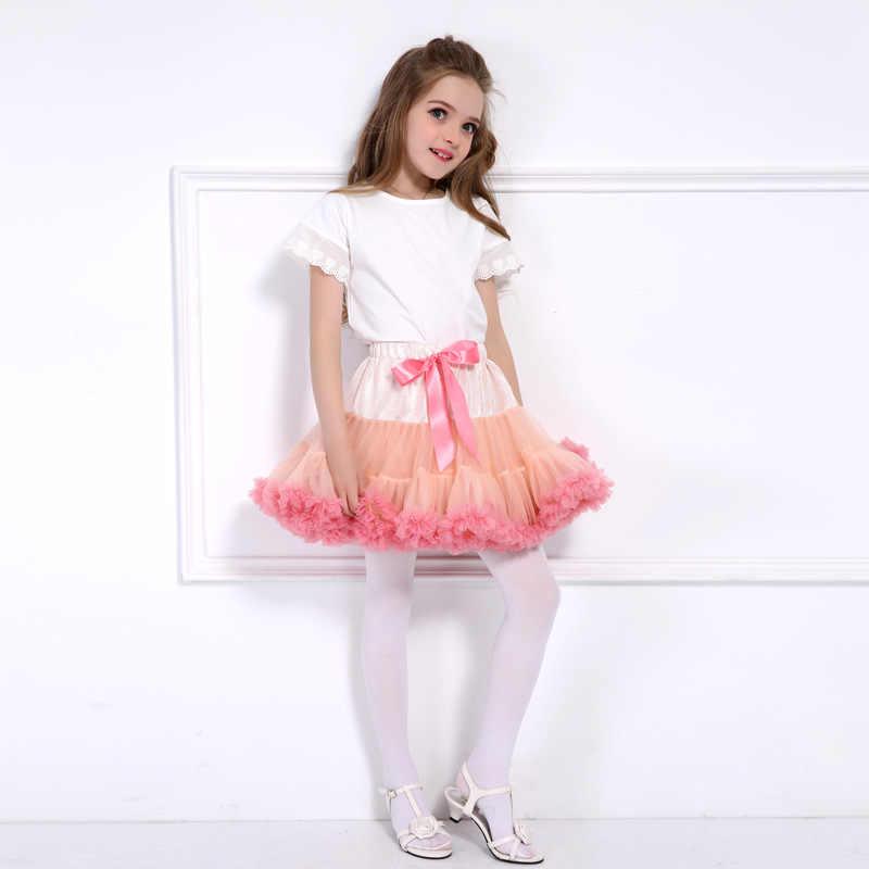 072b6c6f8 ... 1-10Y Girls Tutu Skirt Ballerina Pettiskirt Layer Fluffy Children Ballet  Skirts For Party Dance ...