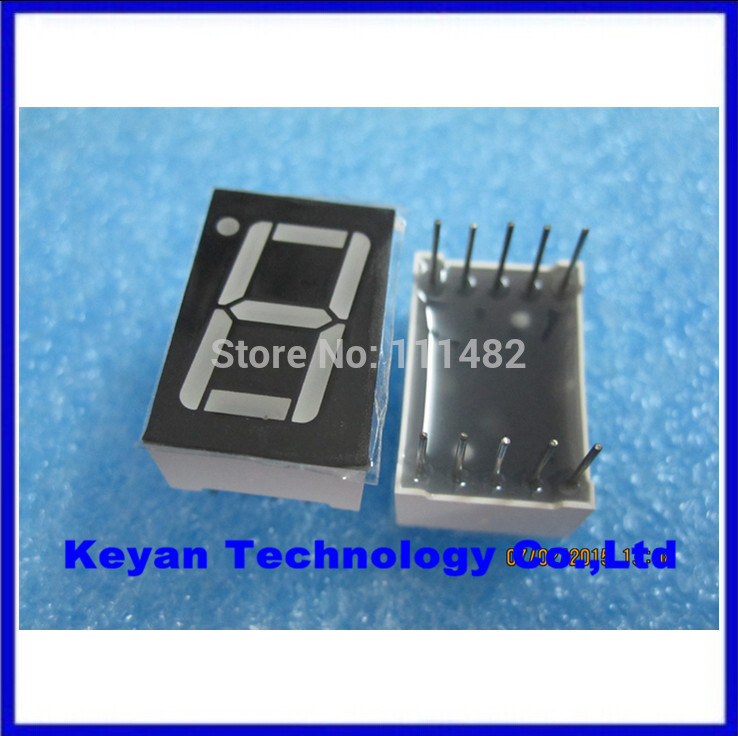 10PCS/LOT Anode + 1 Digit 0.56 inch Red LED Display Common