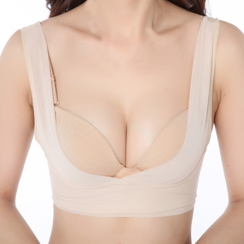 bcf2a63d68 JLONG Women Bra Breast Bust Care Push Up Body Shaper Vest Posture Corrector  Chest Brace Support Underwear Female Lingerie z1-in Bras from Underwear ...