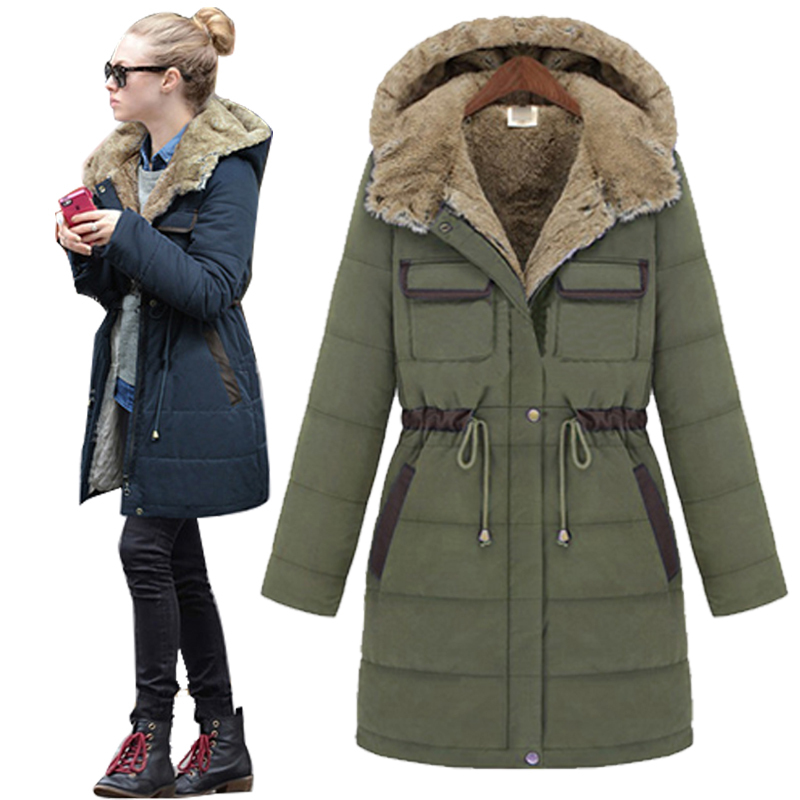 winter jacket women thicken slim coat medium long coat. Black Bedroom Furniture Sets. Home Design Ideas
