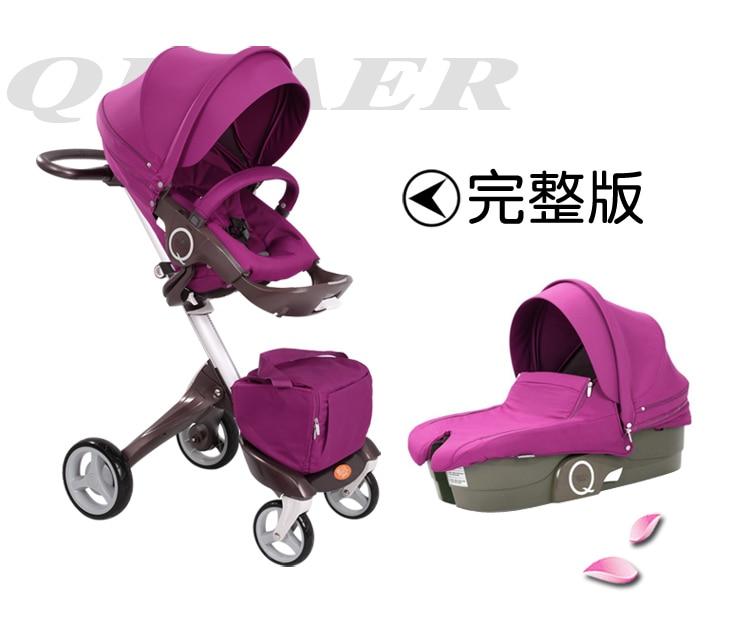 EU baby stroller  baby high landscape  folding strollers bi-directional reclining  stroller baby can sit and lie pram