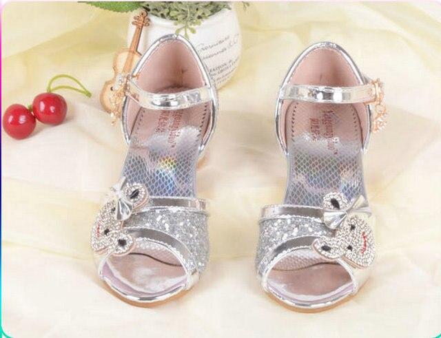 7c2b653bd5d86 Cute Summer Girls Princess Sandals Children s Shoes Kids Girls High Heels Shoes  Korean style 4-