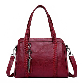 Women Genuine leather Retro Handbag