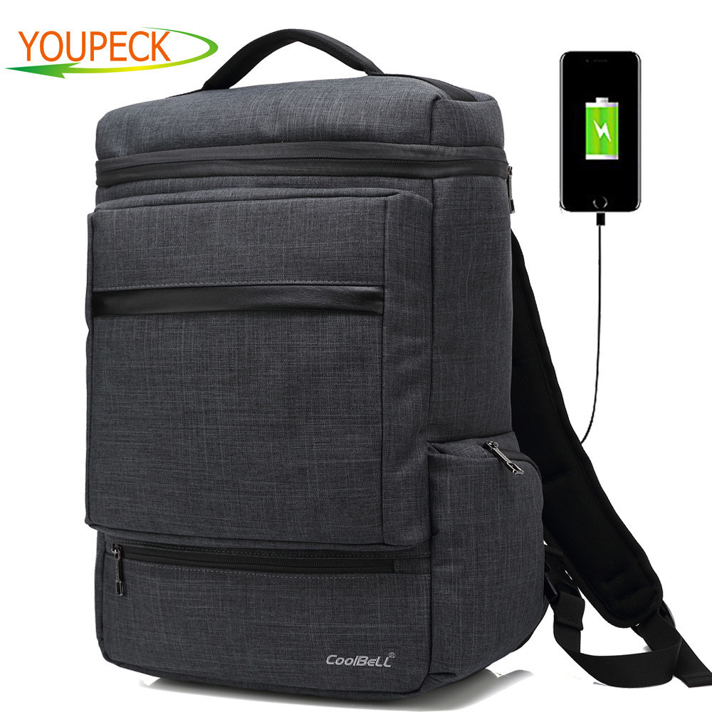 New Convertible Backpack Messenger Bag With USB Changing Port 15 6 Inch font b Laptop b