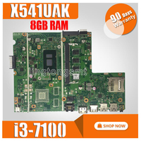 X541UAK motherboard With i3 7100 CPU With 8GB memory REV2.0 For ASUS X541UVK X541UA laptop motherboard X541UAK mainboard TEST OK