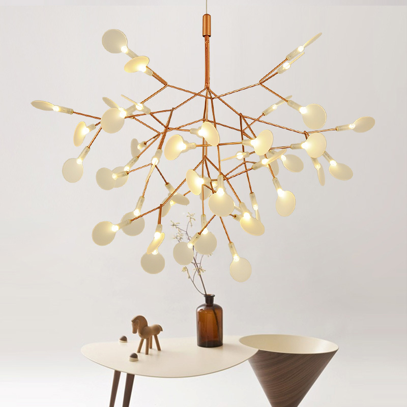 Golden Flower Firefly Dia 51cm Creative Tree Branch Led Pendant Light Natural Structure Technique Of Conductive Layers neumann dietrich structure of light