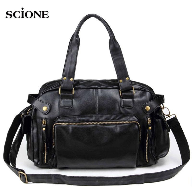 Men Leather Sports Bag Handbags Tote Gym Crossbody Men's Travel Shoulder Bags Briefcase Vintage Messenger Bag XA199WA