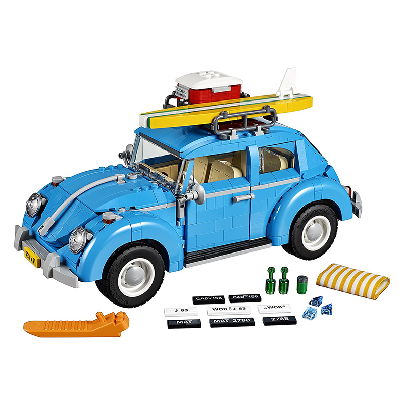 children toy CHINA BRAND 21003 self-locking bricks Compatible with Lego Expert Volkswagen Beetle 10252 toys for children china brand 355 self locking bricks compatible with lego technic rescue helicopter 8068 no original box