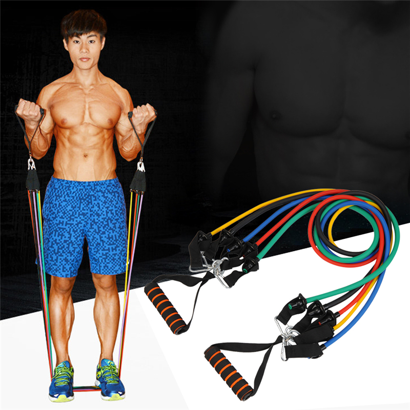 Men s Portable Chest Expander Puller Exercise CrossFit Muscle Training Rope Fitness Resistance Cable Rope Tube Resistance Bands