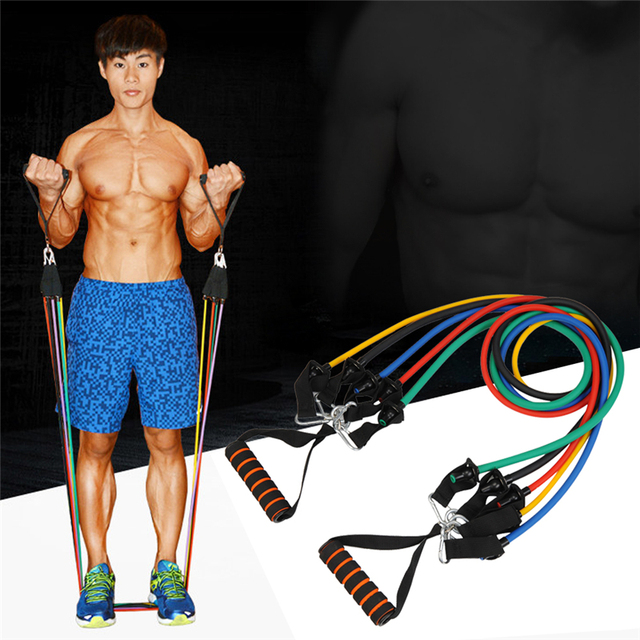 Exercise Bands Names: Men's Portable Chest Expander Puller Exercise CrossFit