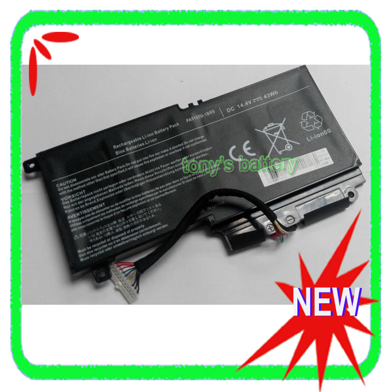 14.4V 43WH PA5107U-1BRS PA5107U Laptop <font><b>Battery</b></font> for <font><b>Toshiba</b></font> <font><b>Satellite</b></font> <font><b>L50</b></font> <font><b>L50</b></font>-A S55 P55 L55 L55t P/n:P000573230 image