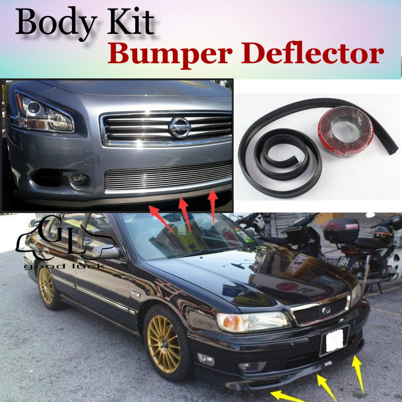 Bumper Lip Deflector For Nissan Cefiro A33 J31 J32 L33 Front Spoiler Skirt For TopGear Friends Tuning View / Body Kit / Strip ラジコン パトカー