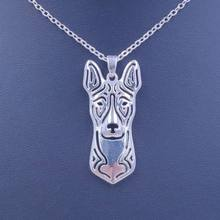 2018 Cute Basenji Necklace Dog Animal Pendant Gold Silver Plated Jewelry For Women Male Female Girls Ladies Kids Boys N101(China)