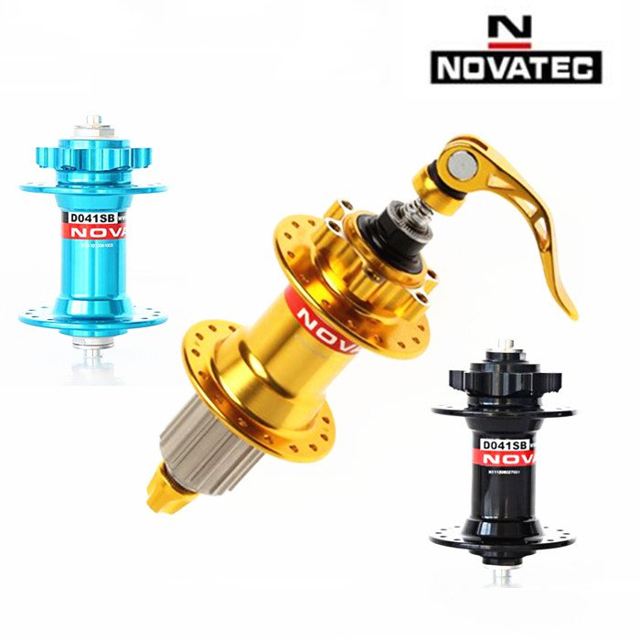 NOVATEC D041SB D042SB MTB Mountain Bike 4 sealed Bearing Hub 32H disc brake Hubs with BICYCLE quick release chosen 4 sealed bearings hub 32h mountain mtb road bike disc brake hubs set 652g