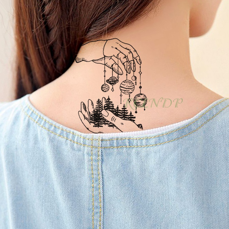 40dd5676e Waterproof Temporary Tattoo Sticker Rocket Hand Planet Flash Tatoo Fake  Tatto Body Tattoos Tatouage Wrist Foot For Men Women-in Temporary Tattoos  from ...