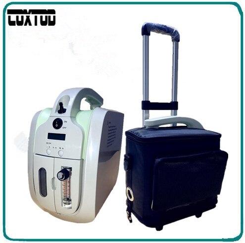 COXTOD Concentrador De Oxígeno con adaptador de Batería bolso de la Carretilla Equipaje Coche purificador de aire bar de oxígeno generador concentrador de oxígeno