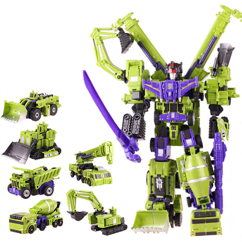 New Big Size Transformation Devastator Boys Toys Action Classic Figures Robot Model Constructions Anime Engineering vehicle Gift батут sport elite r 1280 36