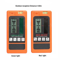 Laser Level Pulse Receiver Green and Red Beam Lines Laser Receiver for Outdoors Construction