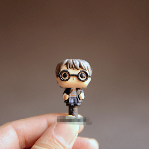 1pc Imperfect Funko POP Pen Topper 2.5cm Pen Tail Harry Potter with Magic Wands Loose Action Figure Collectible Model Toy