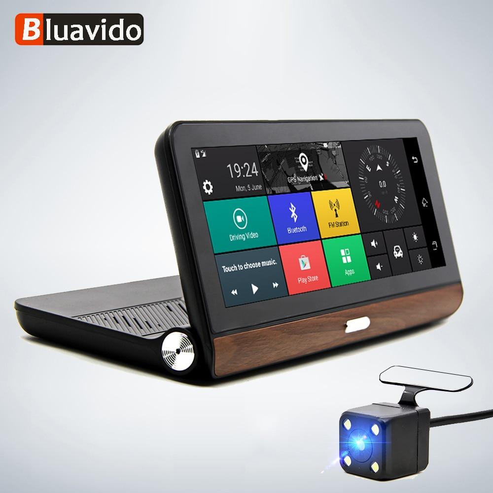 Bluavido Car DVR Camera Dash-Cam Bluetooth-Wifi Android Remote-Monitor Navigation Auto-Video-Recorder