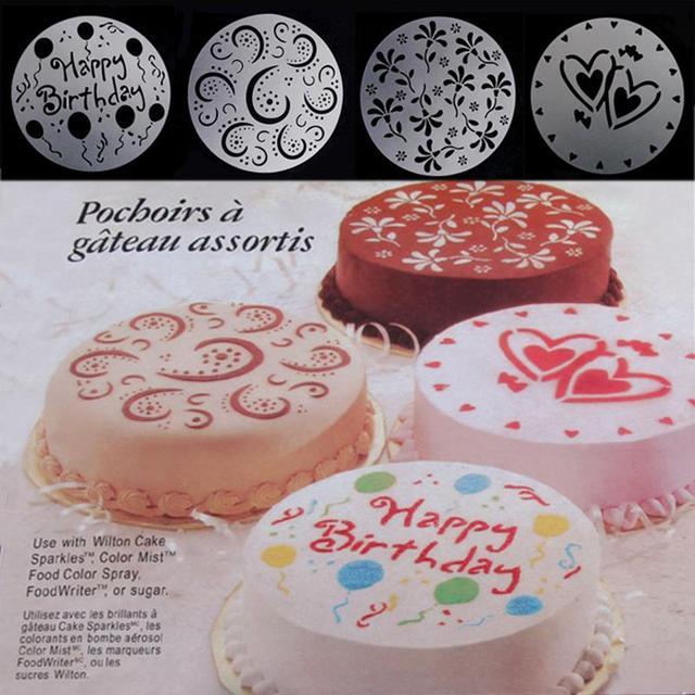 4 Stucke Kuchen Schablonen Spray Form Druck Sieb Sugarcraft