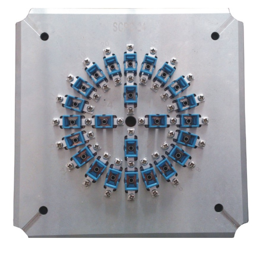 Optical polishing jig 24 port SC PC 24 Fiber Polishing Fixture