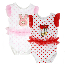 ShungSo 2 PCS lot Baby Girl Romper Baby Sleeveless Clothes Children Summer Clothing Set for Newborn