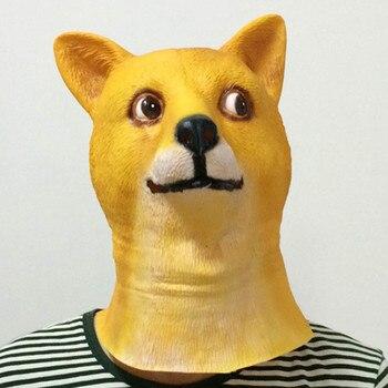 Club nocturno difícil ver los perros mascara de látex para Halloween La...
