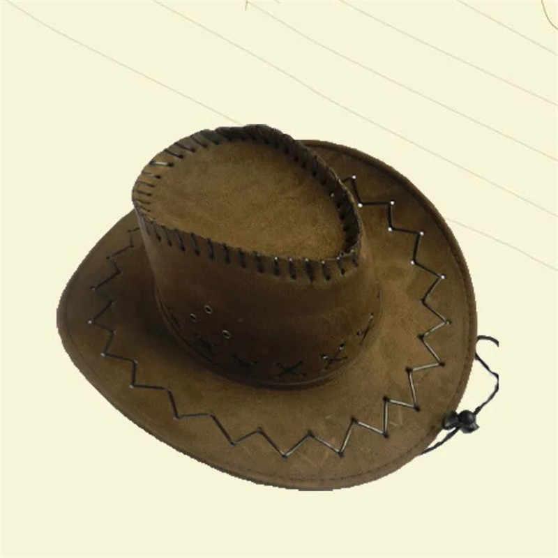 ファッションカジュアル固体カウボーイ帽子スエード外観野生西ファンシー男性女性カウガールユニセックス日焼けキャップワンサイズ大人のための