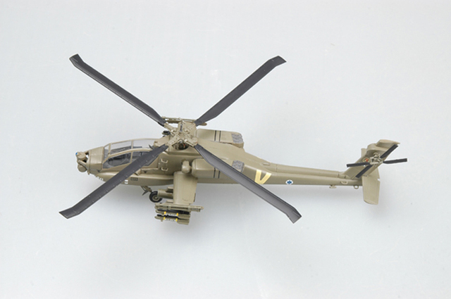 1:72 Scale Airplane Model Israel Apache AH-64A fighter Assembly Airforce Model Building Kits 37027 3