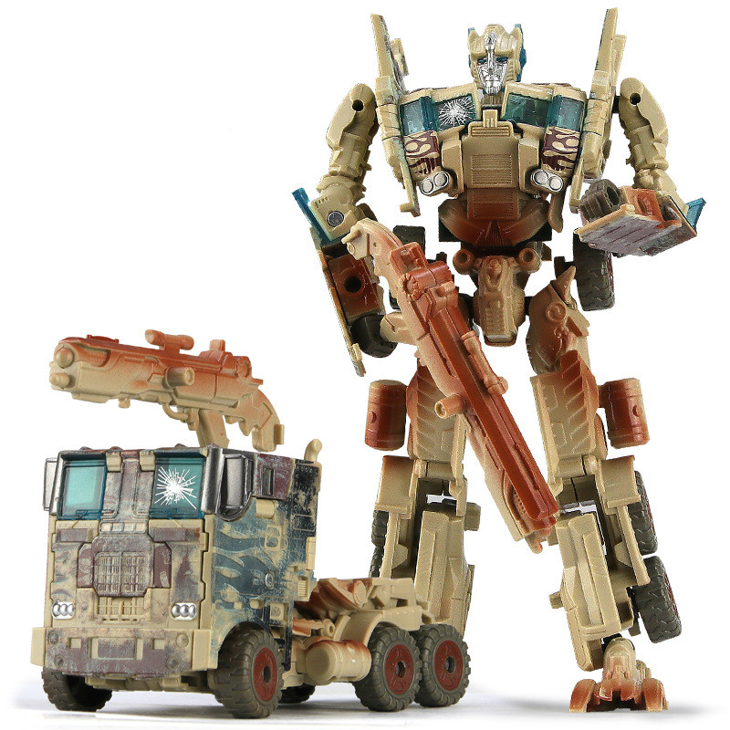 Model Transformation Robot Car Action-Figure-Toys Children Plastic Education Gifts 19cm