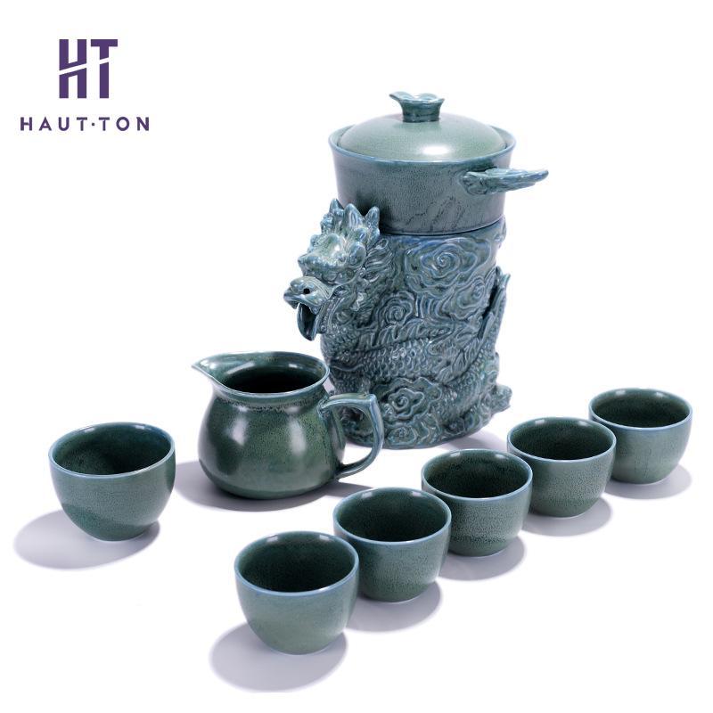 Dragon prospère haute qualité thé ensemble thé Art exquis thé tasse céramique Teaware pour ami meilleur cadeau
