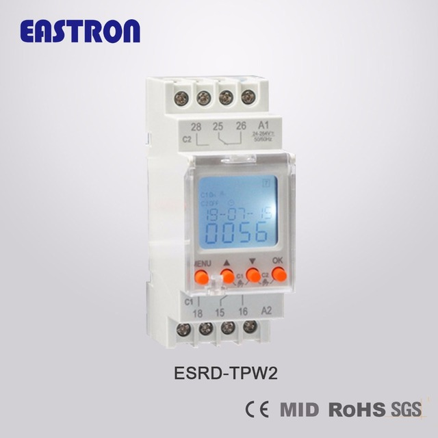 Double Channel Digital Weekly Time Switch ESRD TPW2