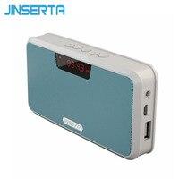 JINSERTA Altoparlante Portatile Senza Fili Bluetooth Stereo Speaker Banca di Potere Handsfree TF USB Lettore MP3 Ricevitore Radio FM