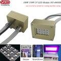 100 w 150 w 395nm uv led módulo de luz uv, Impresora Plana, Impresora de tinta uv lámpara de polimerización pegamento, impresión de la máquina de impresión de pantalla, 3D Pprinter