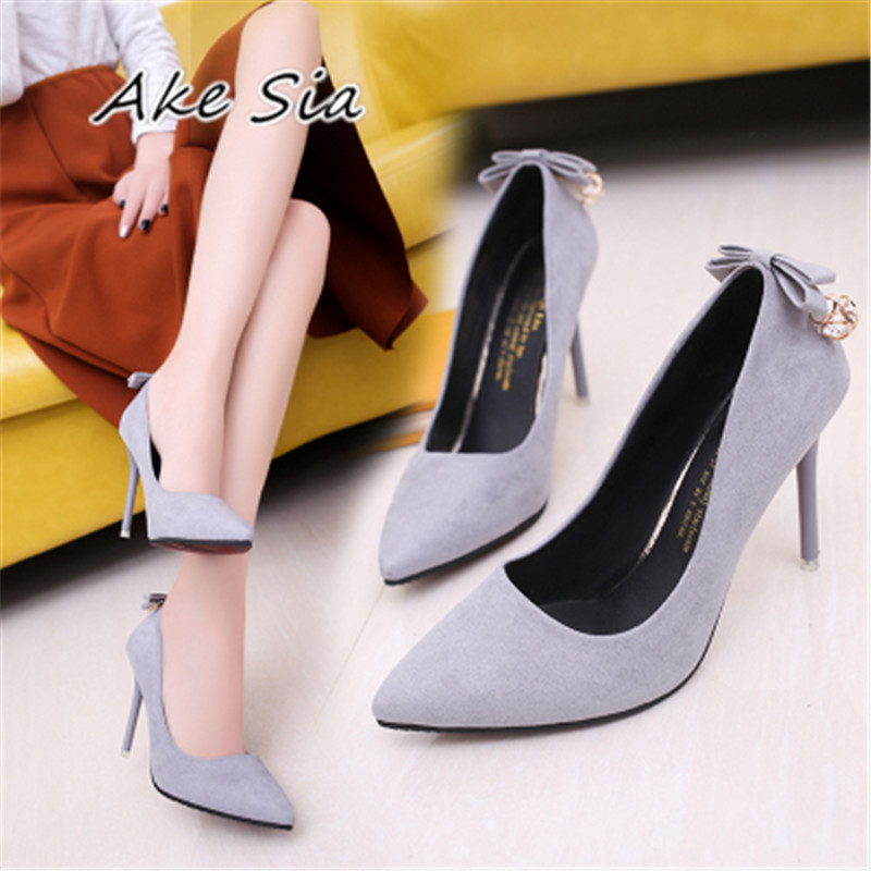 bow-knot High-heeled Pumps shoes summer 2018 new thin with shallow mouth pointed shoes was thin cat with Women High heels s072 2016 summer elegant ol single shoes shallow mouth pointed toe high heeled shoes thin heels sexy pink women s high heeled shoes