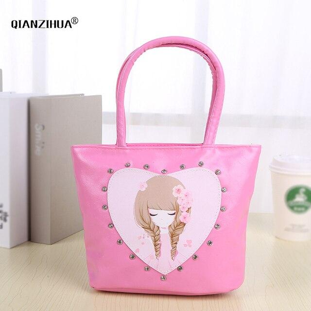 Kids Children Small Bags Diamond Pu Cute S Handbags Coin Purse Party Bag