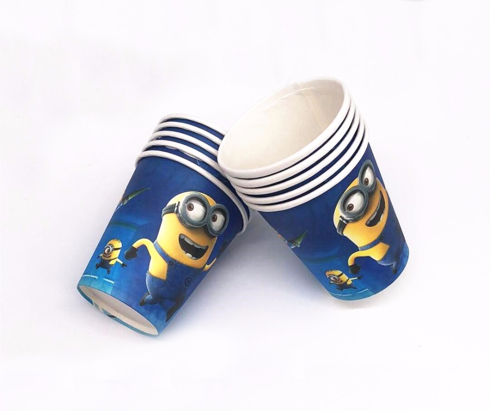 Birthay decoration baby shower party supplies Minion cartoon 10pcs disposable paper drinking cup Minion paper cups ...