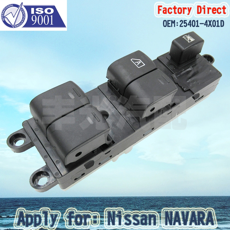 Factory Direct 25401-4X00D 25401-4X01D Auto Front Electric Power Window Master Control Switch Apply For Nissan NAVARA 2007