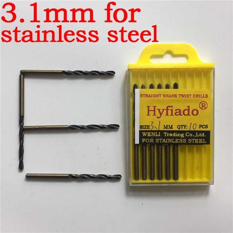 10 Pcs Lot 2.5mm Micro HSS Twist Drilling Bit for Electrical Drill
